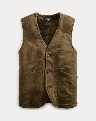 Fleece-Lined Jersey Vest