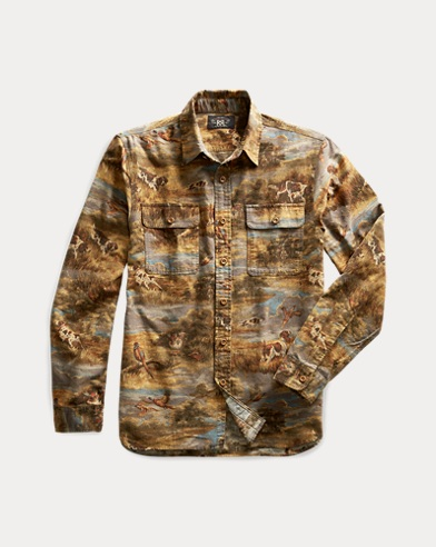 Print Cotton Workshirt