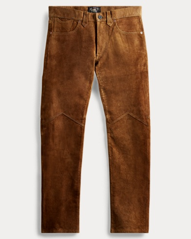 Slim Fit Suede Pant