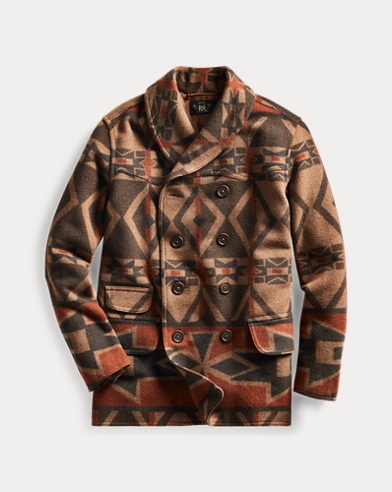 Patterned Peacoat
