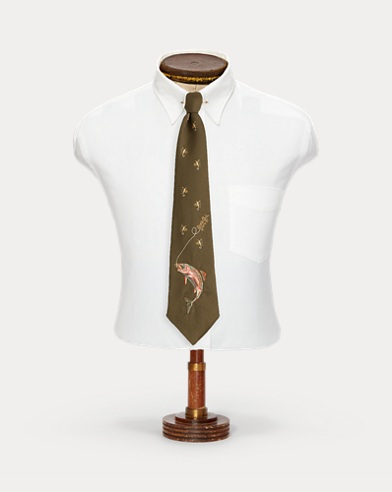 Handmade Embroidered Wool Tie