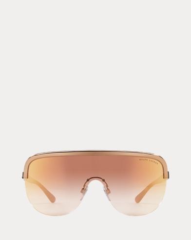 Metal-Frame Shield Sunglasses