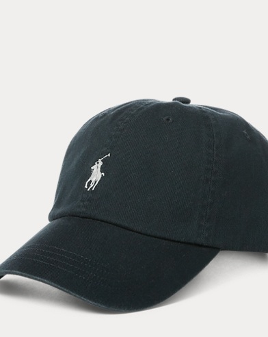 Embroidered Chino Baseball Cap