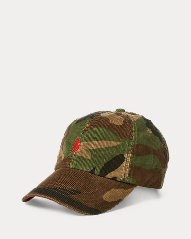 Camouflage-Kappe aus Kordsamt