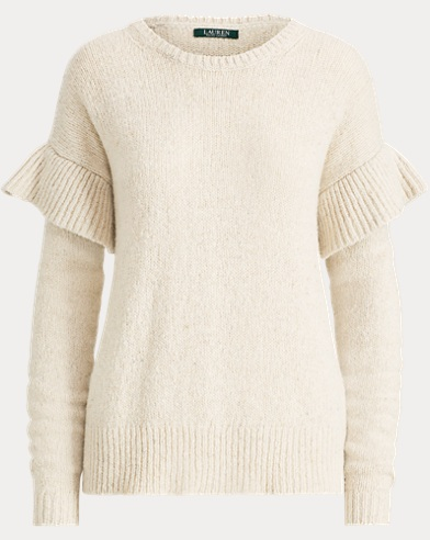 Ruffled Wool-Blend Sweater