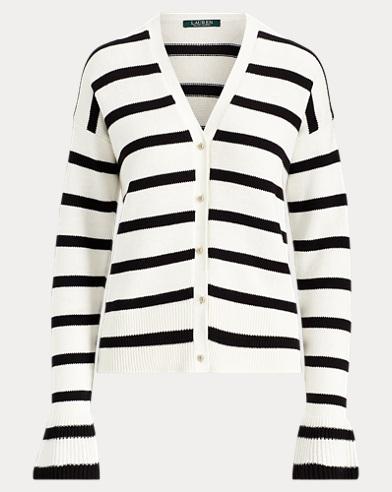 Striped Cotton Cardigan