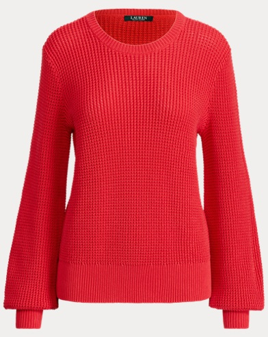 Cotton Bishop-Sleeve Sweater