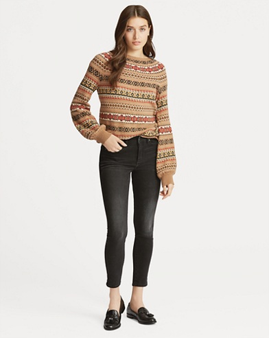 Fair Isle Cotton-Blend Sweater