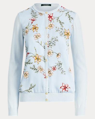 Floral-Print Cardigan