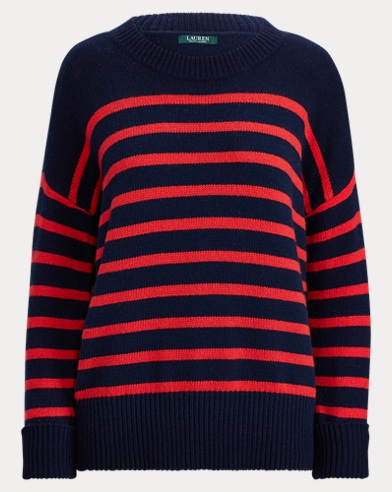 Striped Cotton-Blend Jumper