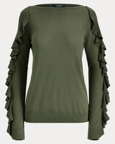 Pullover mit Seide und Rüschen