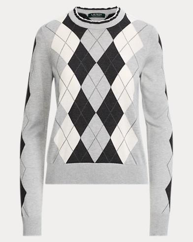 Argyle Silk-Blend Sweater