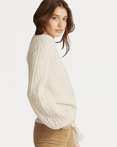 Cable Puff-Sleeve Jumper
