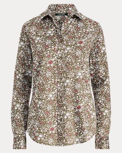 Floral Cotton Sateen Shirt