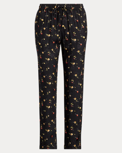 Floral Twill Skinny Crop Pant