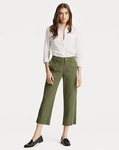 Straight Stretch Cotton Pant