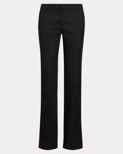Side-Stripe Wool-Blend Pant