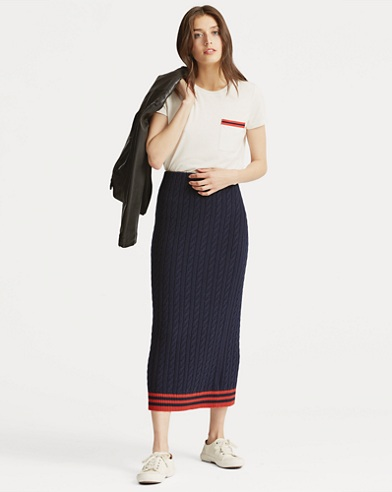 High-Waisted Knit Skirt