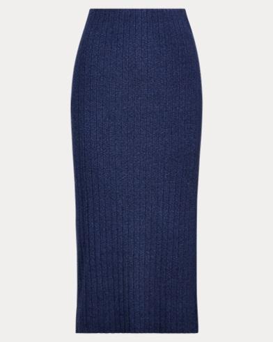 High-Waisted Knit Skirt