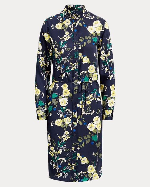 995cd9463ae86 Lauren Floral-Print Twill Shirtdress 1