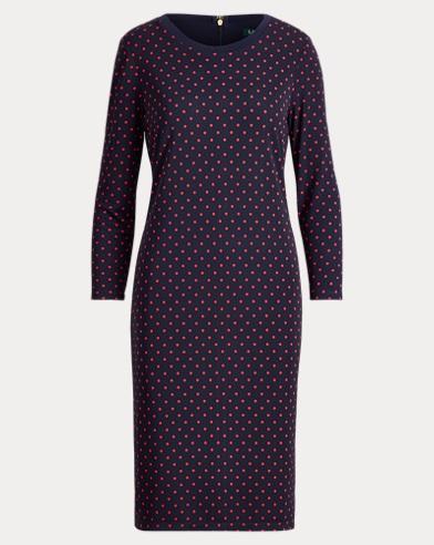 Polka-Dot Jersey Dress