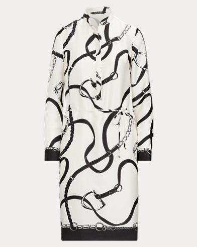 Print Twill Shirtdress