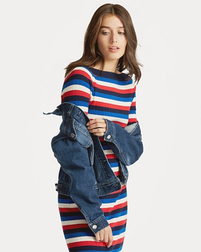 Striped Boatneck Dress