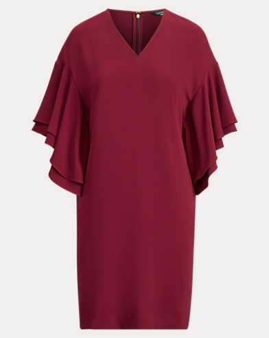 Flutter-Sleeve Shift Dress