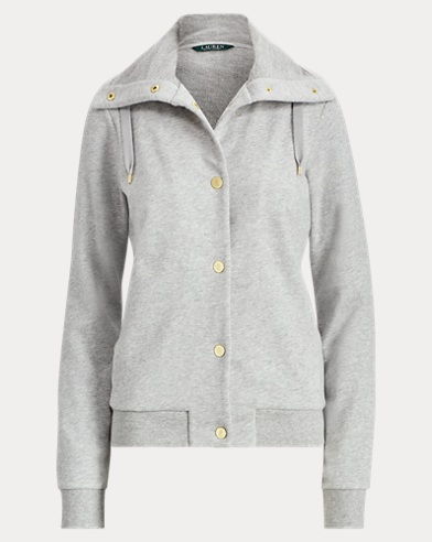 French Terry Funnelneck Jacket