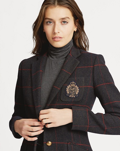 Bullion-Patch Tweed Blazer