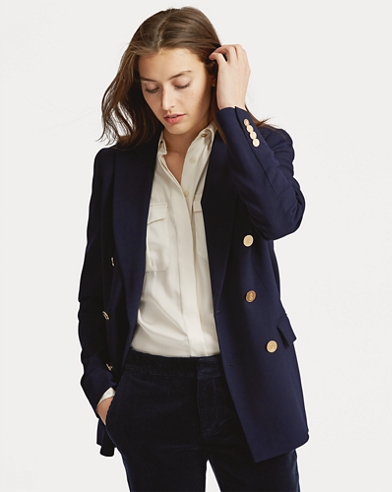 Blazer in lana stretch