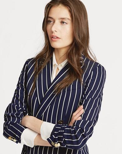 Striped Satin Blazer
