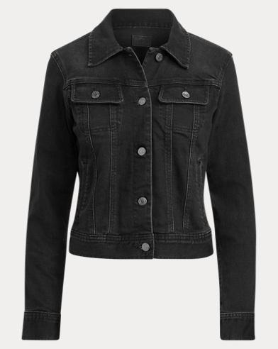 Lace-Up-Sleeve Denim Jacket