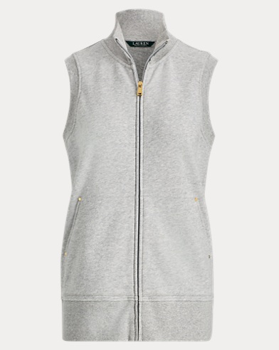 French Terry Full-Zip Vest