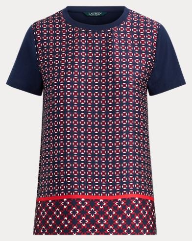 Geometric-Print T-Shirt