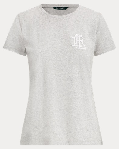 Beaded-Monogram Cotton T-Shirt