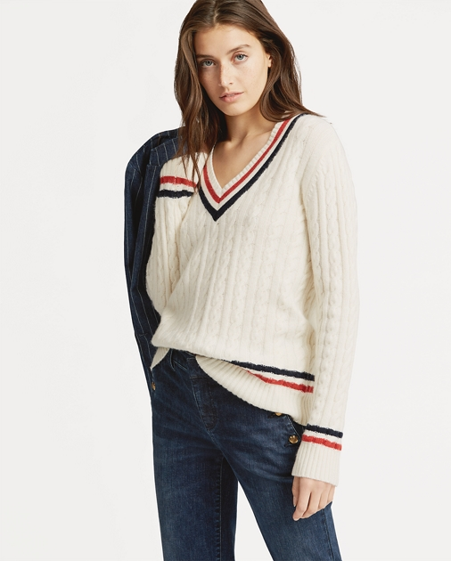 727870b09a88 Lauren Petite Cable-Knit Cricket Sweater 1