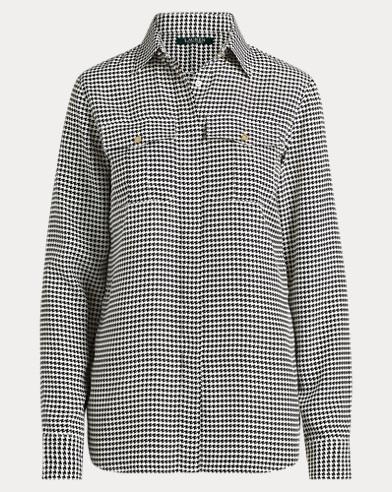 Crepe Button-Down Shirt