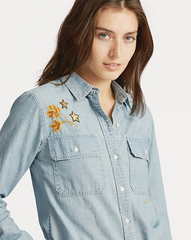 Patch Chambray Shirt
