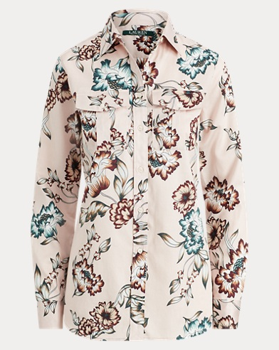 Floral Cotton Sateen Shirt