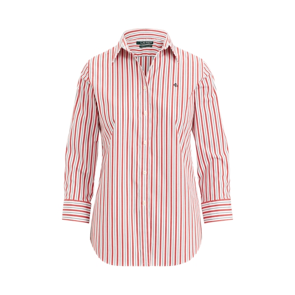 Ralph Lauren No-Iron Button-Down Shirt Crimson Multi Xsp