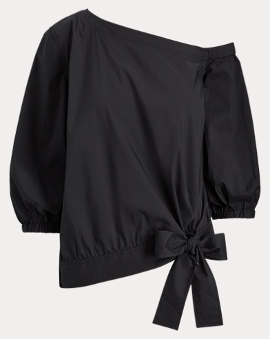 Asymmetrical Tie-Front Top