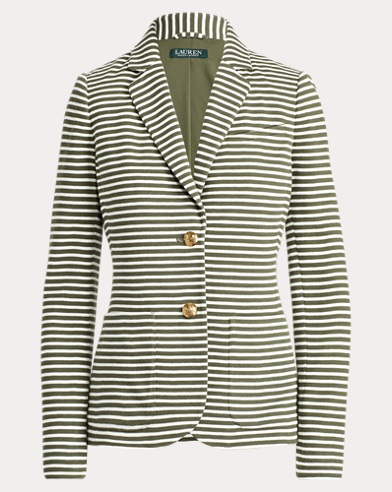 Striped Piqué Blazer