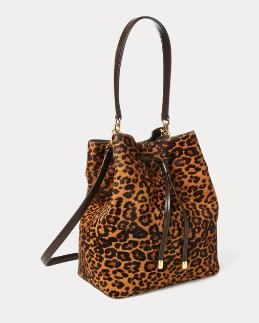 3b8a46e1fb Lauren Leopard Debby Drawstring Bag 2