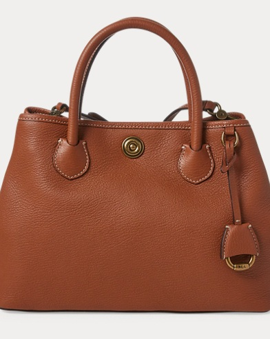 Leather Mini Market Tote