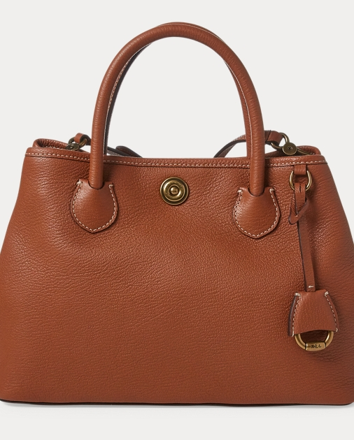 Leather Mini Market Tote