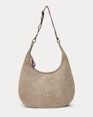 Anchor Suede Hobo Bag