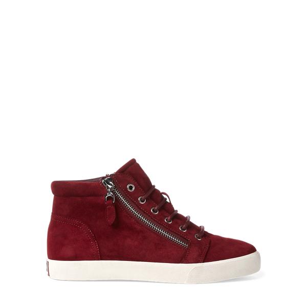 Ralph Lauren Reace Suede Sneaker Merlot 10
