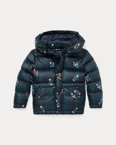 Polo Bear Tartan Down Coat