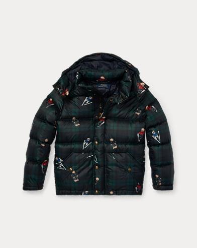 Polo Bear Tartan Down Coat